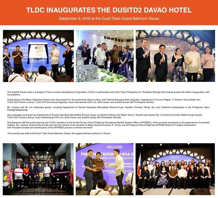 Inauguration of dusitD2 Davao hotel